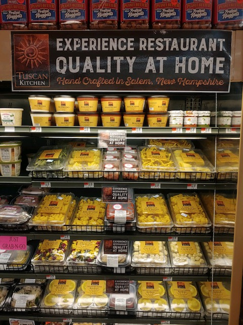 Market Basket Burlington Tuscan Display